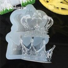1 pcs UV Hars Sieraden Vloeibare Siliconen Mal Queens Crown Vorm Resin Charms Mallen Voor DIY Intersperse Versieren Maken sieraden