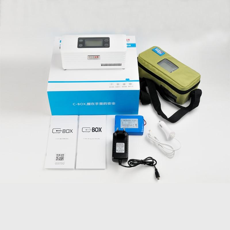 Portable Small fridge cooler insulin Box Car Fridge Mini Medical Refrigerator Insulin with LCD Display
