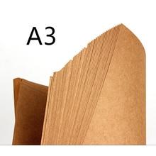 70-200gsm 20 pcs Hoge Kwaliteit A3 Bruin Kraftpapier DIY Handmake Kaart Maken Craft Papier DIY Dik Karton Karton