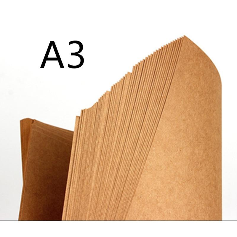70-200gsm 20 шт Высокое качество А3 коричневая крафт-бумага сделай сам ручная работа для карт крафт-бумага сделай сам толстый картон для картона