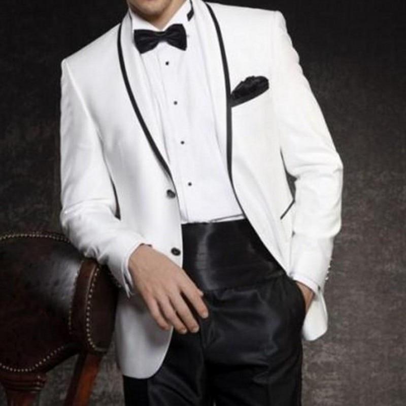Esmoquin para novio con un botón hecho a medida, trajes de solapa para hombre, boda, baile de graduación, chaqueta, pantalones y corbata, C366