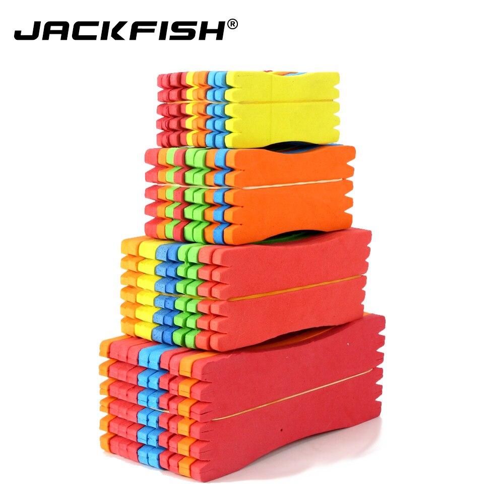 Lámina de sedal de pesca JACKFISH 50 unids/lote de espuma de 8 cm/10 cm/12 cm 15cm