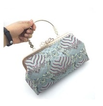Гобелен Moire, тканевый кошелек, рамка, сумки, материал, с застежкой, замок, для свадьбы, вечеринки, ручка, сумка на плечо, с замком для целования