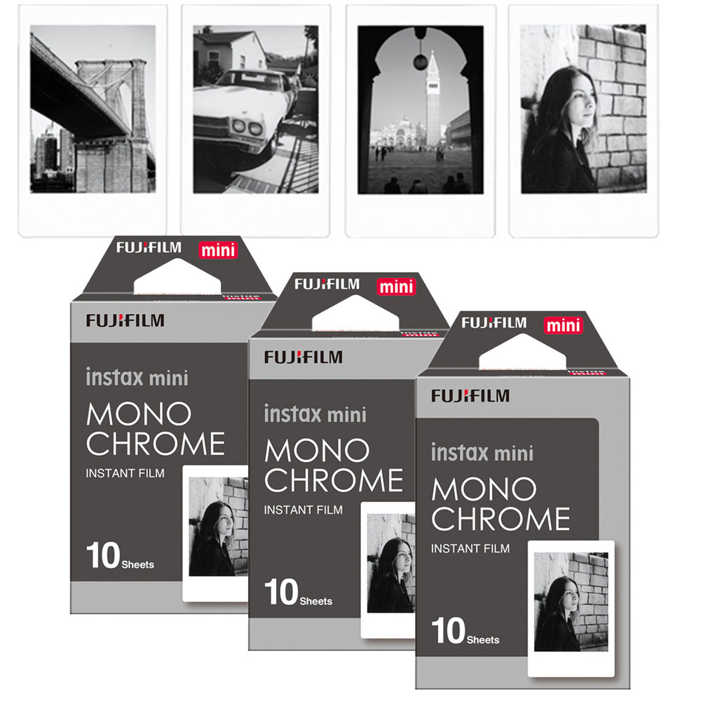 Fujifilm Instax Mini 8 película monocromática, 30 Uds. Para Mini 300 7s 7 50s 50i 90 25 dw Share SP-1 cámara de fotos instantáneas Polaroid
