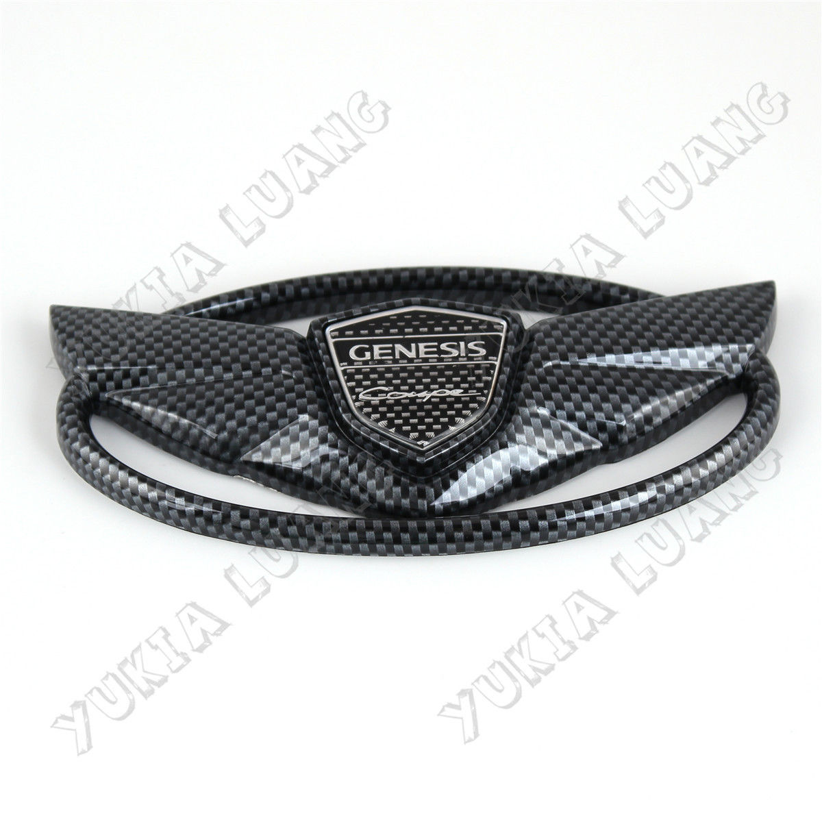 GENESIS COUPE 2010-15 Car Front Grille Emblem Carbon Fiber Styling Wing