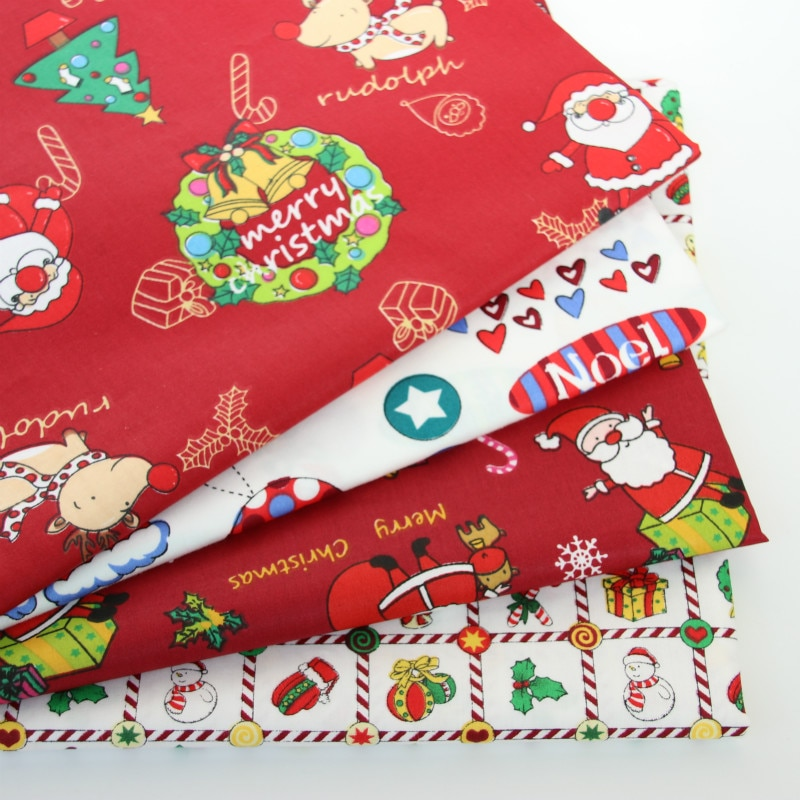 aliexpress.com - Printed Christmas Baby Cotton Twill Fabric For DIY Bedding Cloth Sewing Patchwork Quilting And Happy Christmas Decoration