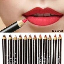 Lipliner Pencil  Waterproof Matte Liquid Gloss Lip Liner Cosmetic 12 Colors Long lipstick and lip liner sets