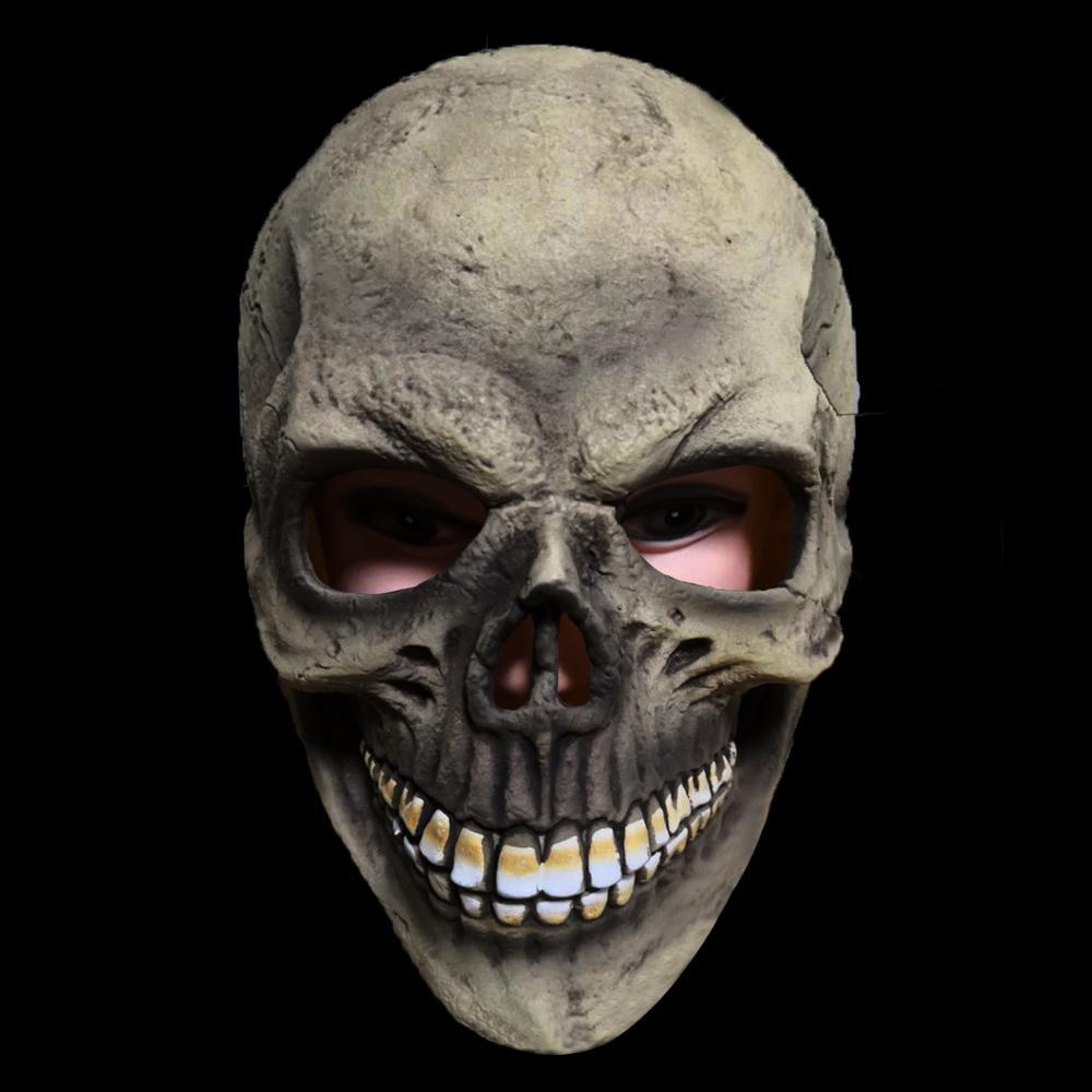 Máscara de calavera de miedo cabeza completa máscaras de Halloween máscara de fiesta de látex realista accesorios de disfraz de disfraces de Halloween