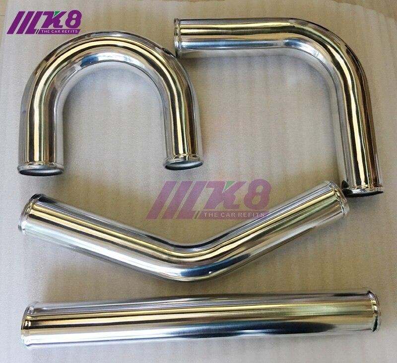 Tubo Intercooler de 2,75 pulgadas/70mm/recto/90 grados/45 grados/180 grados/grosor 2mm/tubo de entrada de aluminio DIY/tubo de entrada de aire