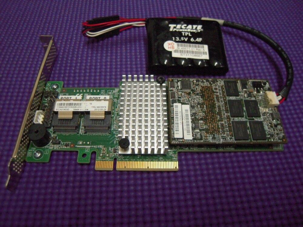 RaidStorage ServeRAID M5110 SAS/SATA controlador 00AE807 con 46C9029 RAID5 1GB cache llave 8 puertos SFF8087 PCI-E 3,0 X8 6 Gb/s tarjeta