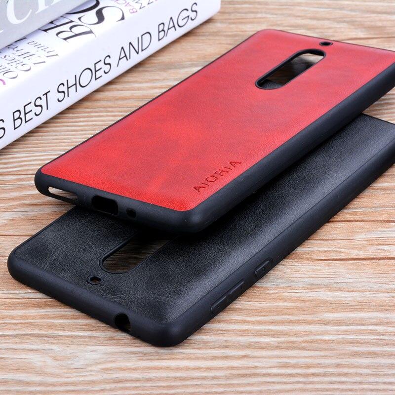 Para nokia 3 5 8 funda de lujo Vintage PU cuero de vaca patrón capa cubierta de la piel del teléfono casos para nokia 3 5 8 coque funda