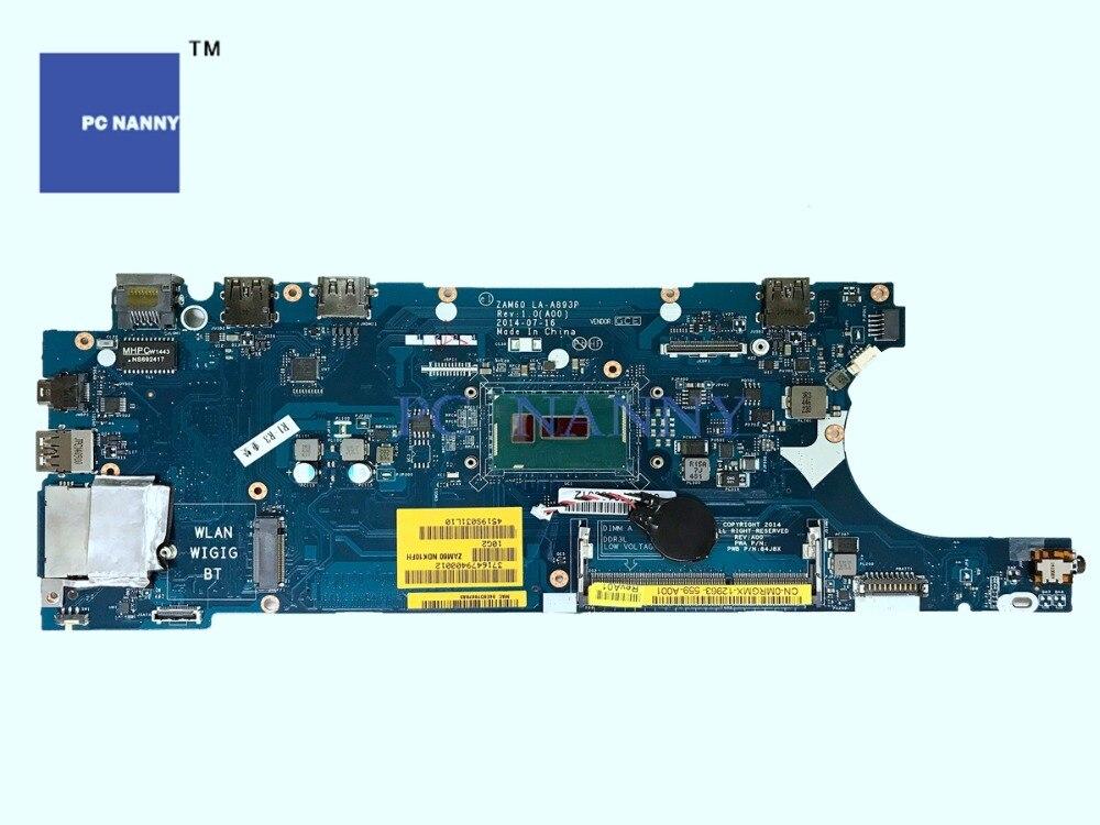 "PCNANNY placa base MRGMX 0MRGMX ZAM60 LA-A893P para Dell Latitude E5250-12,5 ""-Core i3 5010U DDR3L HD 5500 placa base de computadora portátil"