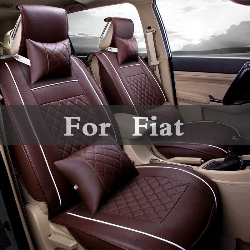 Conjunto Assentos De Carro de Couro Cobre Acessórios Interiores 5 1 Cor Protector Styling Para Fiat Palio Siena Stilo Panda Seicento Sedici