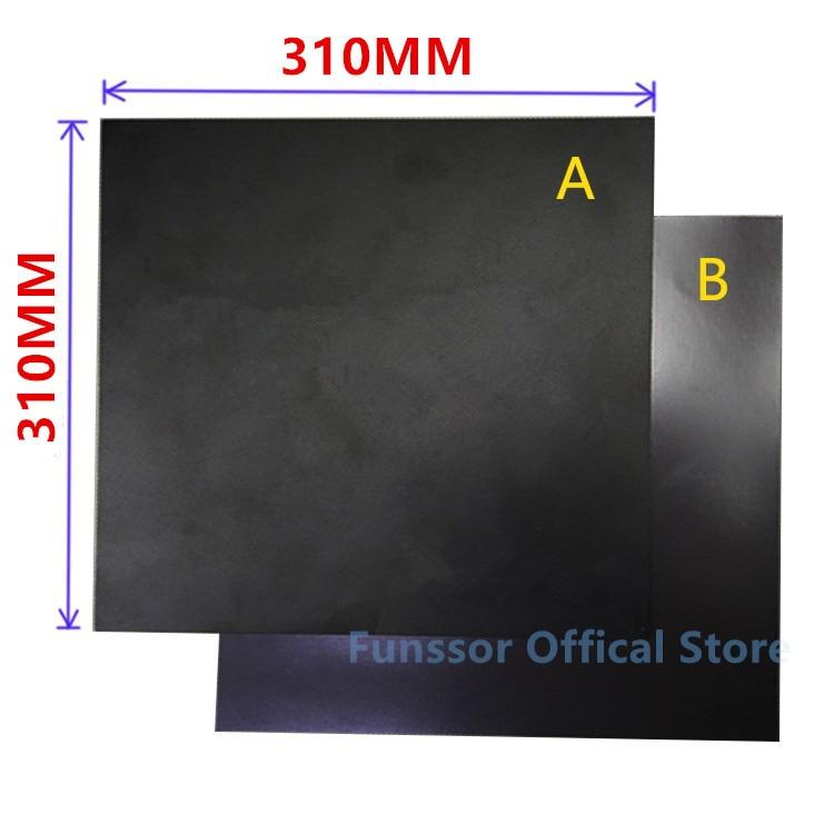 Funssor 310X310MM المغناطيسي طباعة السرير الشريط فليكس بناء الشريط عدة لتقوم بها بنفسك Creality CR-10 ثلاثية الأبعاد