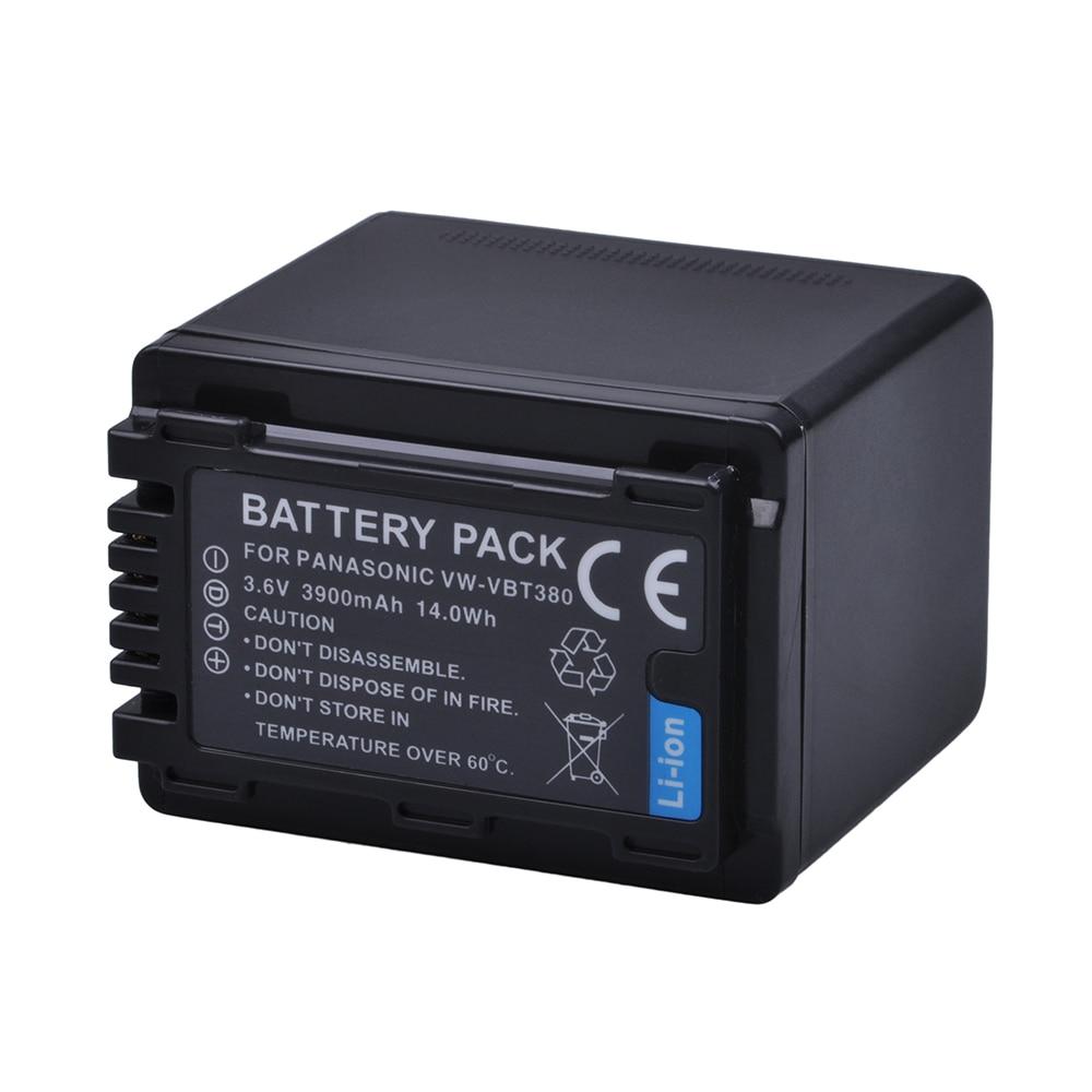 Batmax 1 шт. 3900 мАч VW-VBT380 VBT380 батарея для камеры Panasonic HC-V800GK/808GK HC-V110, HC-V130, HC-V160, HC-V180, HC-V201, HC-V250,