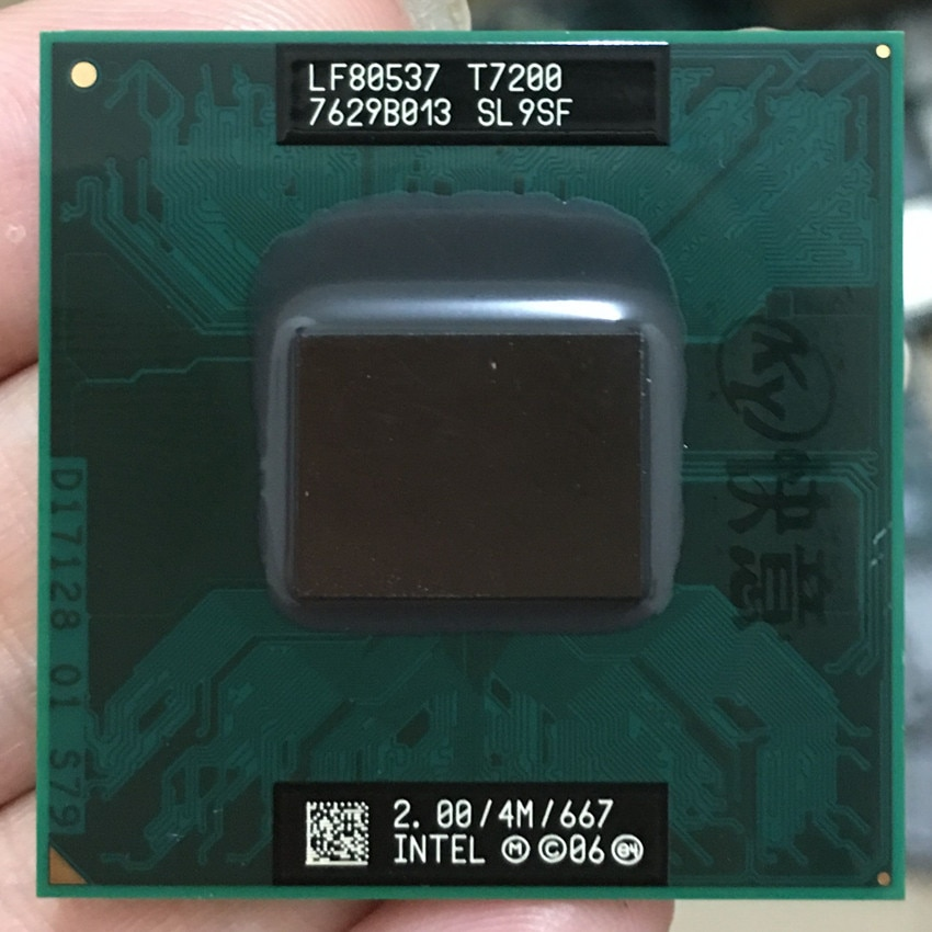 Intel Core 2 Duo T7200 CPU ordenador portátil procesador PGA 478 cpu 100% funcionando correctamente