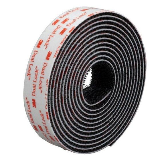 Doble bloqueo SJ3550 negro cinta adhesiva VHB seta con cinta ajustable, tipo 250