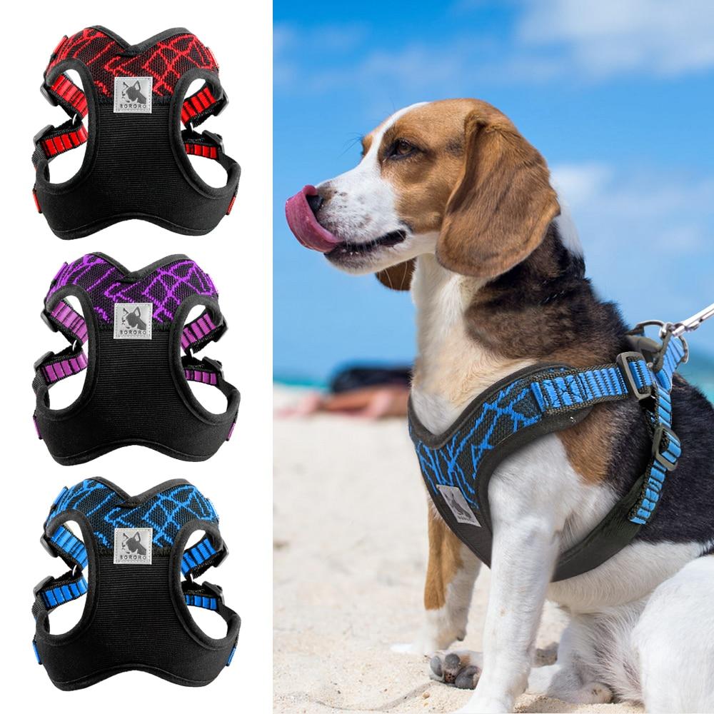 No-pull Sport Reflective Dog Harness For Medium Large Dogs Pitbull Bulldog Outdoor Dog Training Walking Harnesses Safety Vest