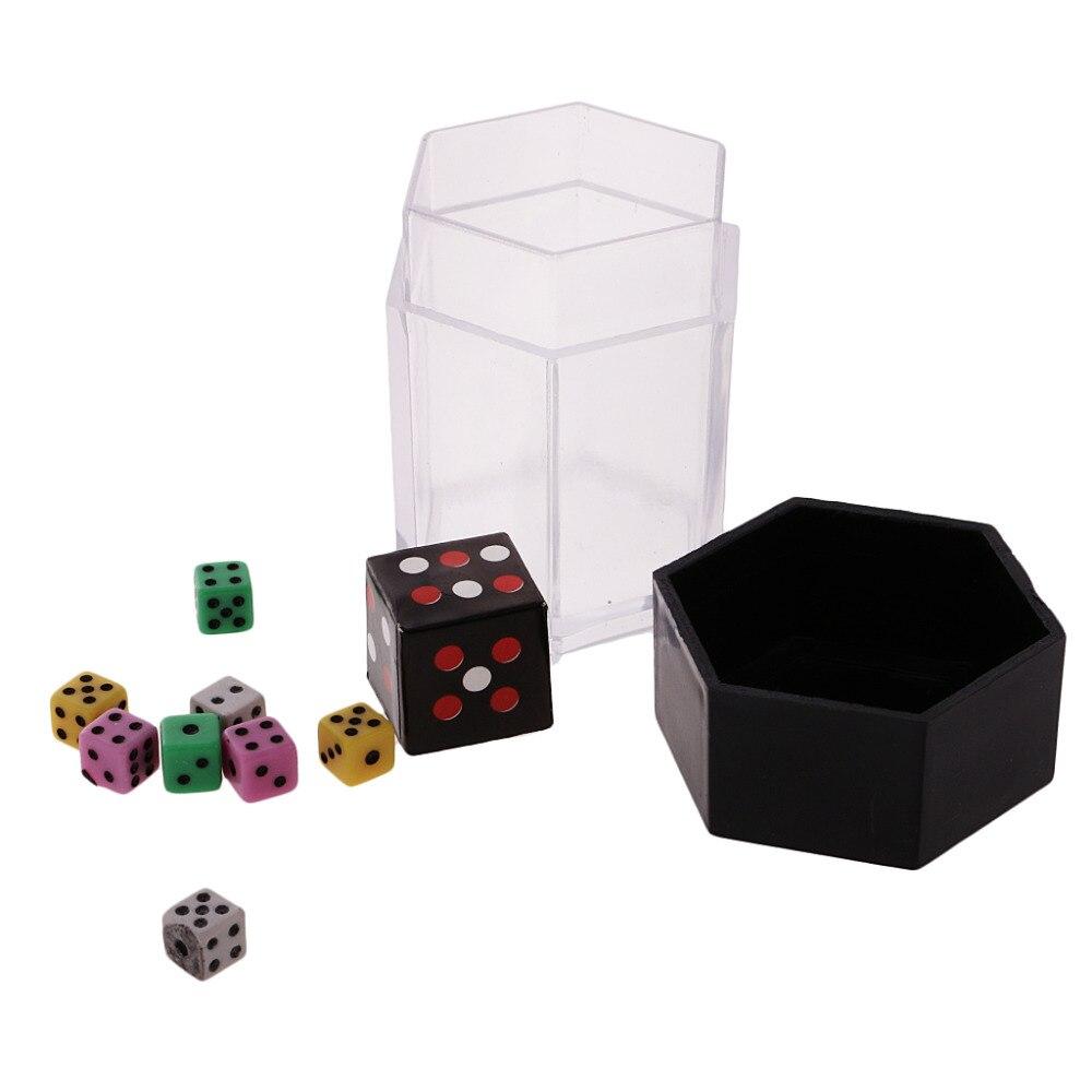 Profesional 1 Uds explosión dado Mini colorido dado de bomba Cambiar tamaño niños juguete para truco de magia Props Street Magic acceso M5