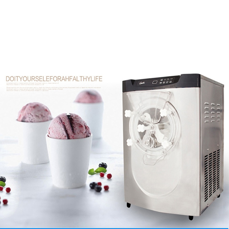 1 PZ 220V comercial completamente automática BQ22T escritorio máquina de helado duro, máquina de helado, máquina de helado