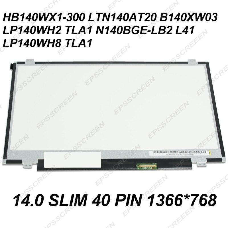 """14,0 """"PANEL FÜR ASUS K450C X401U/EINE S400 x402c X451C D451v W408L X450C LED LCD MATRIX SCREEN DISPLAY 14,0 DÜNNE 40 PIN"""