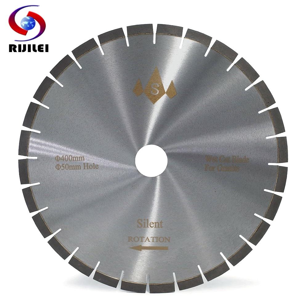 RIJILEI 400MM Granite Silent Diamond Saw Blades Cutter Blade For Granite Concrete Stone Sharp Cutting Circular Cutting Tools