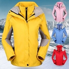 On sale Women Winter 2 in 1 Outdoor Snow Jacket Windproof Waterproof Mountaineering Climbing Hiking