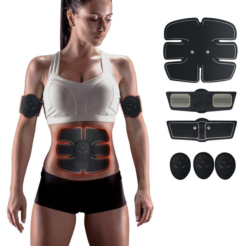 Ems тренер миостимулятор тренер Смарт-фитнес тренажер ABS стимулятор тела пояс для похудения унисекс наклейки