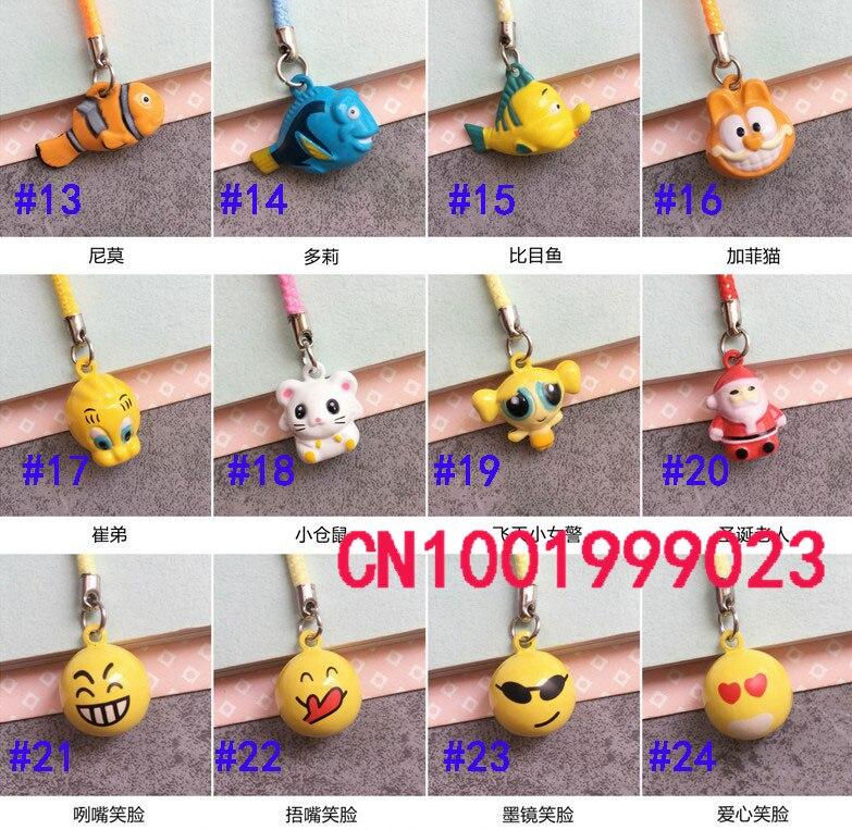 10pcs Mini Santa Claus Shape Chain Funny facial design Mobile Phone Charm Strap bell Cell Phone Pendant Fashion Bag accessories