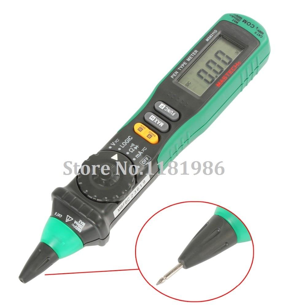 MASTECH MS8211D Digitale Multimeter Pen-Type Meter Auto Range DMM Multitester Spanning Stroom Tester Logic Level Tester