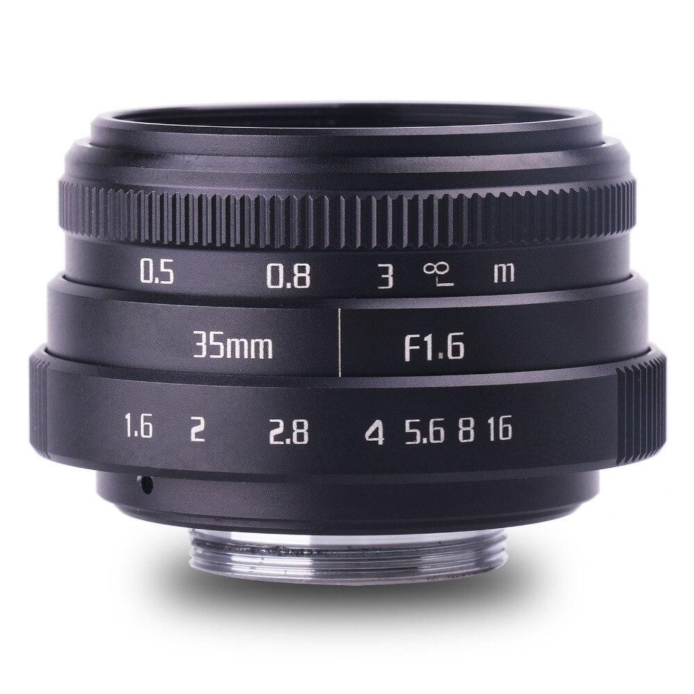 Nueva llegar fuji un 35mm f1.6 C montaje de cámara lentes de CCTV II para N1 fuji película fuji NEX Micro 4/3 EOS B