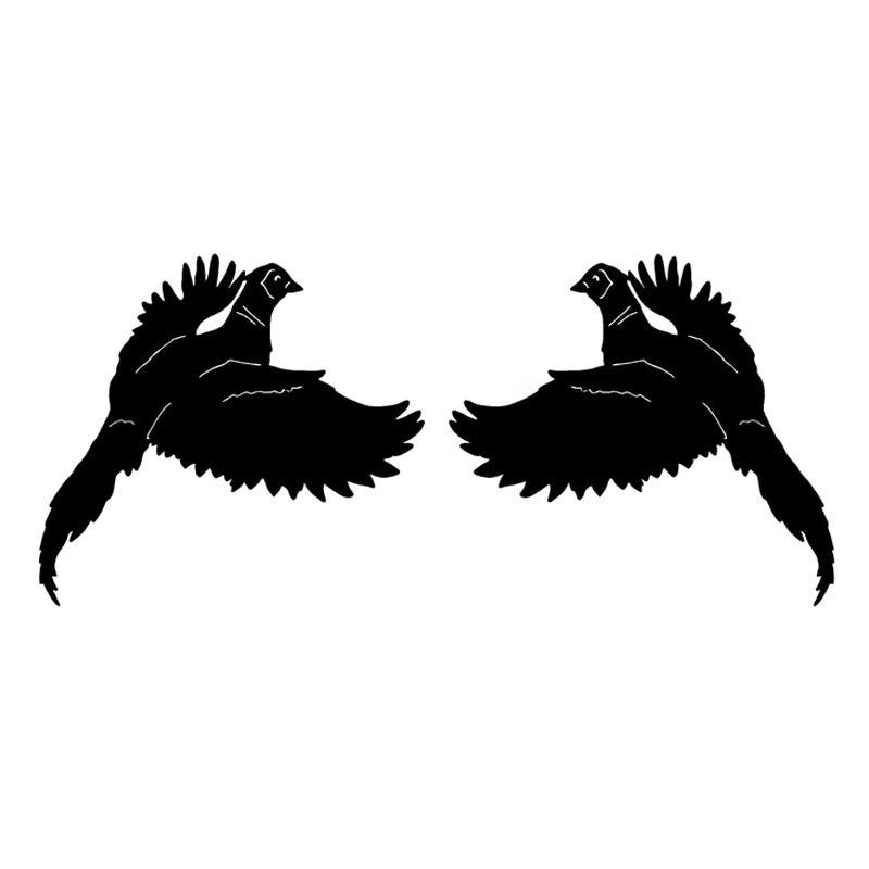 16X14.6CM 2X faisan oiseau (1 droite et 1 gauche) Fun vinyle voiture autocollants moto décalcomanie S6-2404
