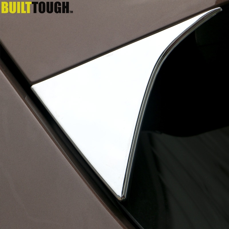 For Kia Sportage QL 2017 - 2019 Chrome Rear Window Side Spoiler Cover Trim Triangle Garnish Pillar Molding Bezel Car Styling
