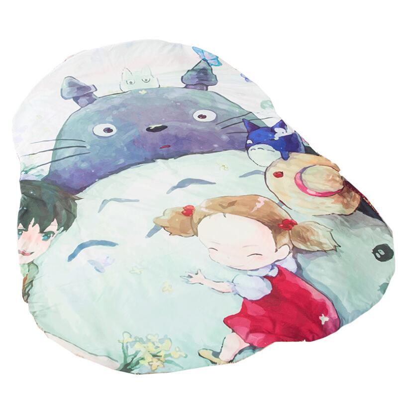 Cartoon Totoro Blanket Big Size Anime Printed Sofa Bed Throw Blanket Kid Adult Warm Winter Blanket Quilt Weighted Blanket