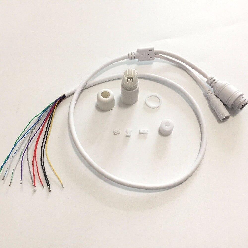 Камера видеонаблюдения, IP, POE, сетевая, Wi-Fi, HD, модуль PCB, мощность видео, защита от непогоды, кабель POE RJ45, Женский и DC, мужской, белый
