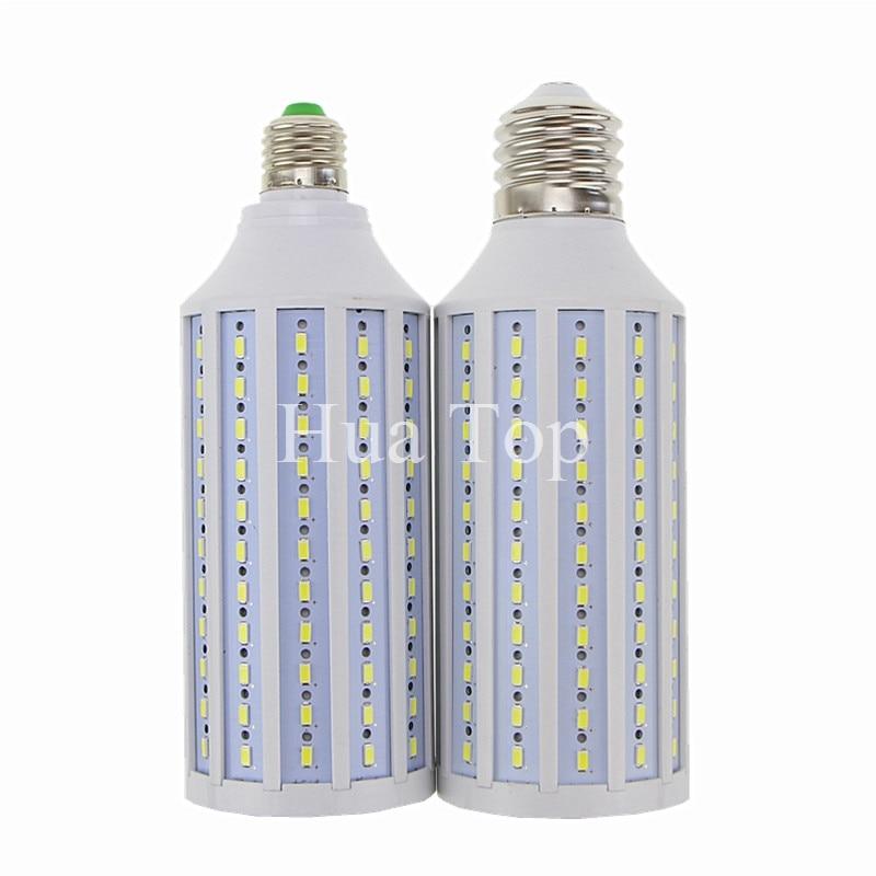 50W bombillas LED para lámpara 5730 5630 SMD E26 E27 B22 E40 165 LEDs luz de techo de maíz blanco frío cálido 85-265V