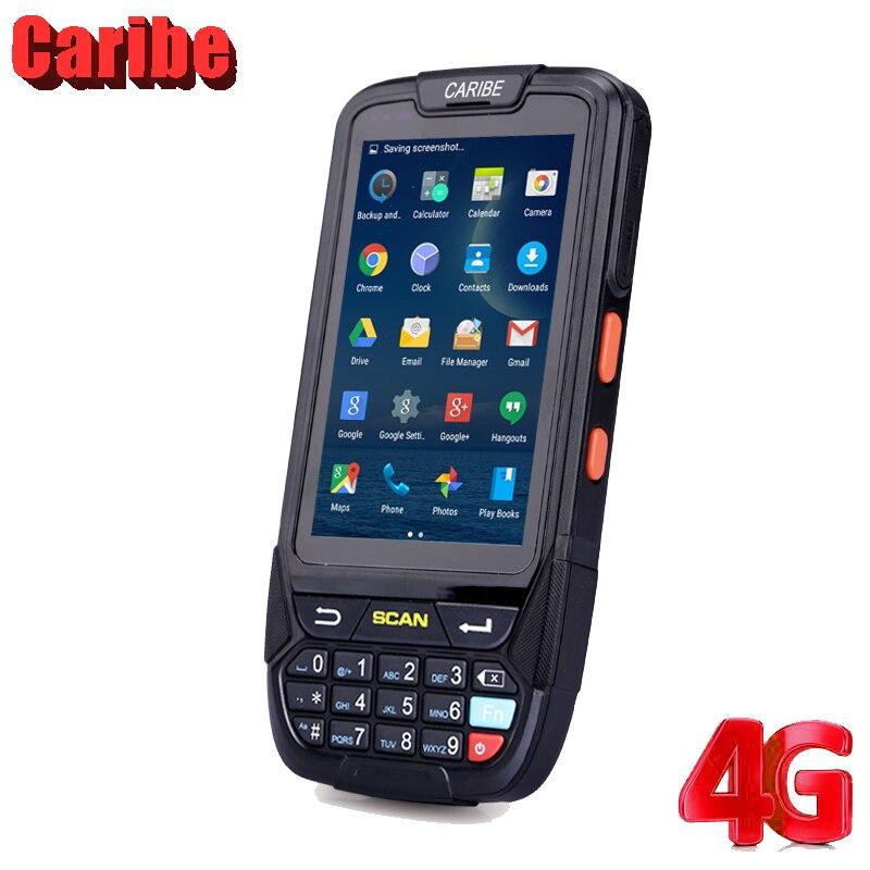 Caribe Rugged 1D 2D escáner de código de barras Android PDAIP65 lector RFID