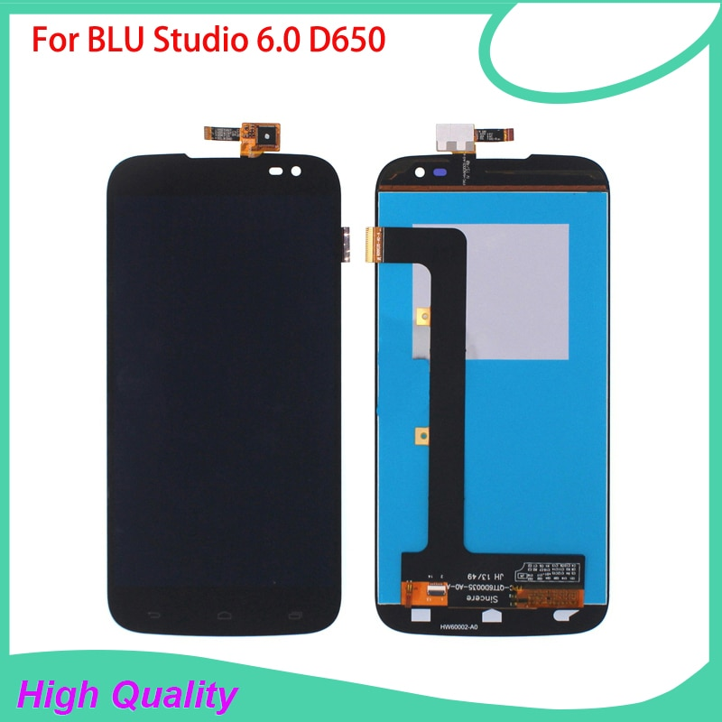LCD Display For BLU Studio 6.0 HD D650 650 Mobile Phone LCDs Touch Screen 100% Guarantee Black Color