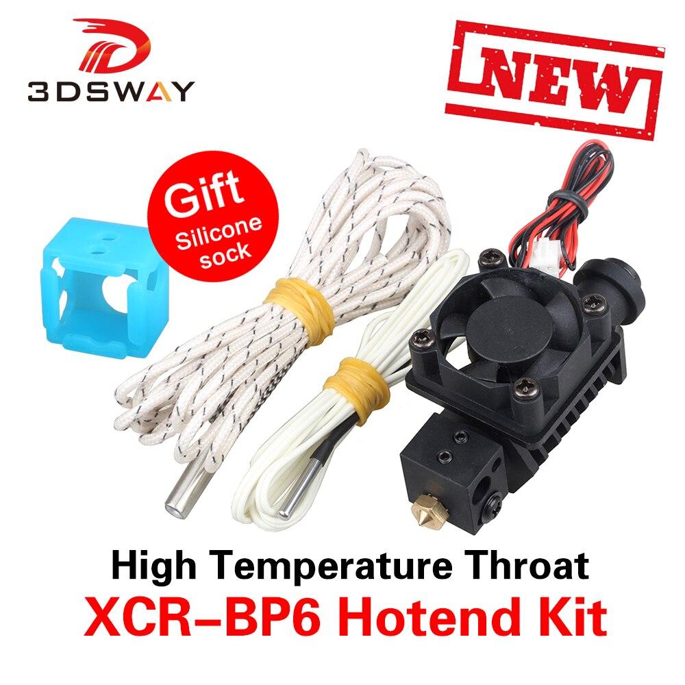 3dsway 3D принтер части XCR-BP6 все металлические Тип Hotend Комплект Высокая температура горло ABS нейлон PETG материал печати J-head 1,75 мм