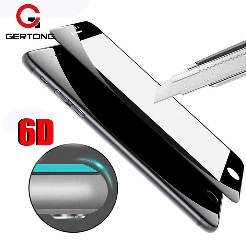 6D couverture complète verre trempé pour iPhone SE 2020 7 7plus 6s 6plus 8 X protecteur décran 4D 5D bord incurvé rond Film de protection
