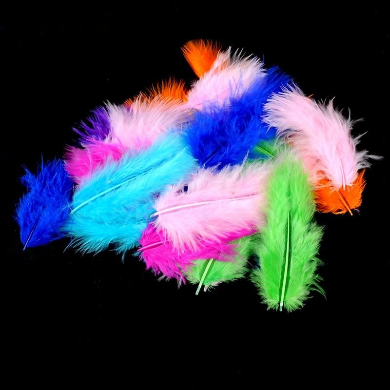 Plumas naturales de colores 100 Uds., accesorios para globos transparentes, plumas naturales para fiesta festiva para niños, plumas naturales
