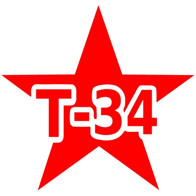 CS-544 #15*15cm T-34 pegatinas y calcomanías de vinilo plateado/negro para coche