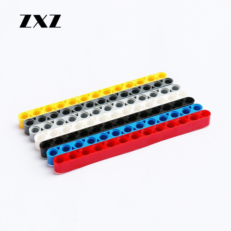 20 pçs/lote técnica liftarm 1x13 buraco blocos de construção plástico tijolos feixes grossos 13 modelo 41239 peças técnicas crianças construção amigos