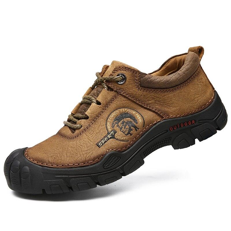 Hombre Zapatos de senderismo zapatos de fondo grueso de la no-slip zapatos deportivos de alta calidad al aire libre único de protección de los hombres zapatillas de deporte Zapatos