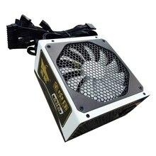 Vermogen 600w tot 800W actieve ATX desktop 14cm fan hoogwaardige kwaliteit PowerSupply voor 110v en 220v