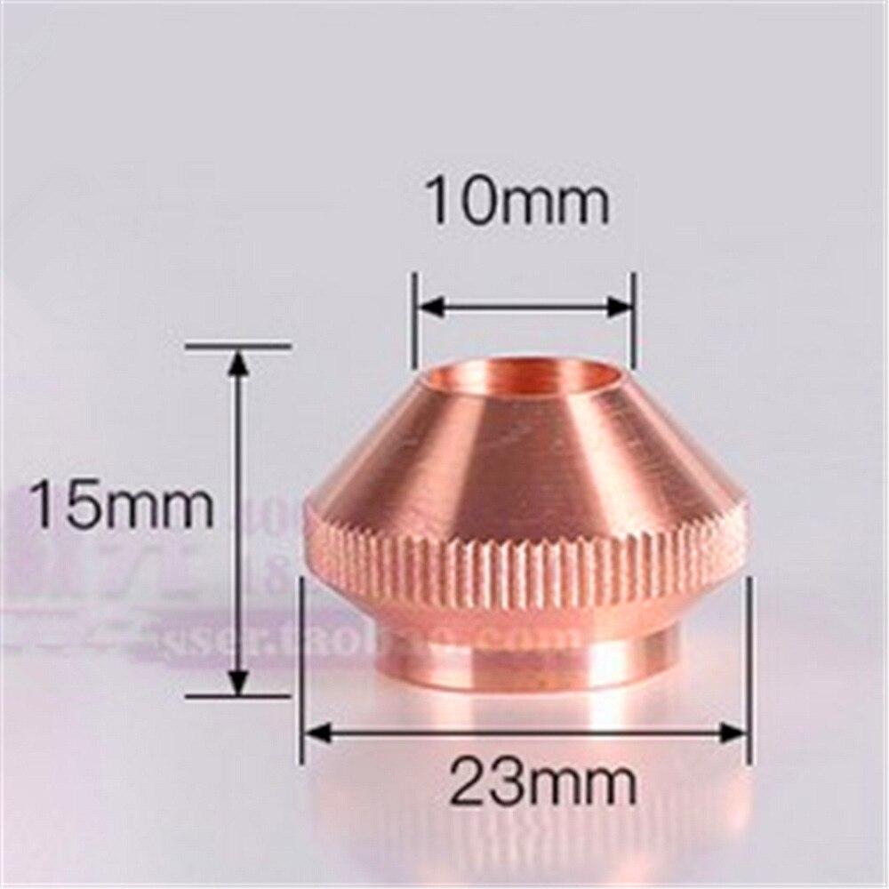 1 ud. Modelo bala capa a juego cubierta 10mm x 23mm x 15mm Altura boquilla para cortar por láser Calibre a juego cubierta