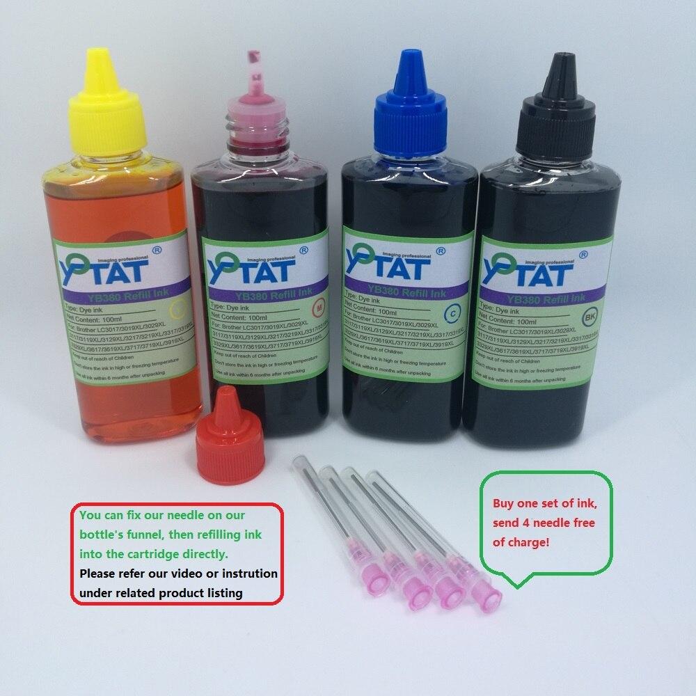 YOTAT 4 Cor Dye Ink Refill LC3219 LC3219XL LC3219 XL (LC3217) para O Irmão MFC-J5330DW MFC-J5335DW MFC-J5730DW J5930DW J6530D