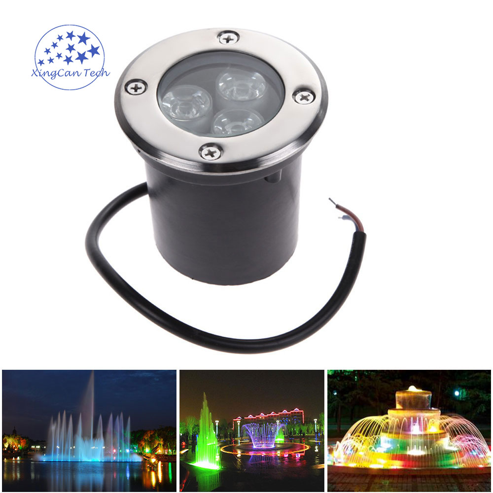 1pcs DC/AC 12V 5w Outdoor Underground Lamp Waterproof IP67 Spot Floor Garden Yard 3w 1w Red Blue Green Yellow White Light