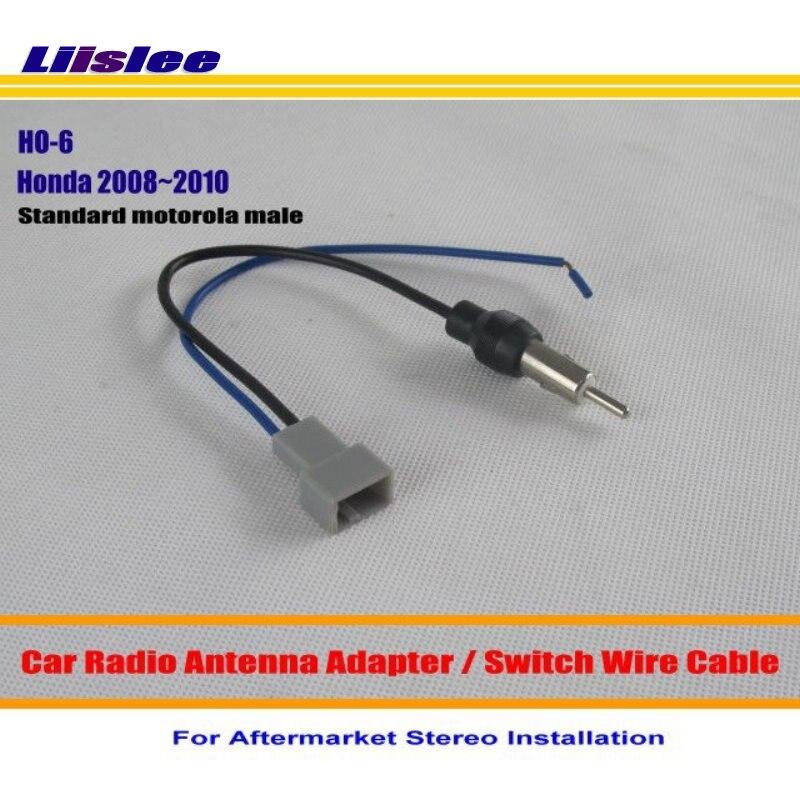 Liislee para honda accord/crv/civic/insight/odyssey/ajuste/frv/jazz-rádio do carro antena adaptador estéreo cabo de fio da antena