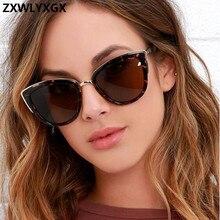 ZXWLYXGX Sexy Cat eye Zonnebril Vrouwen Luxe Merk Designer Vintage Gradiënt Glazen Retro zonnebril Vrouwelijke Mode Brillen